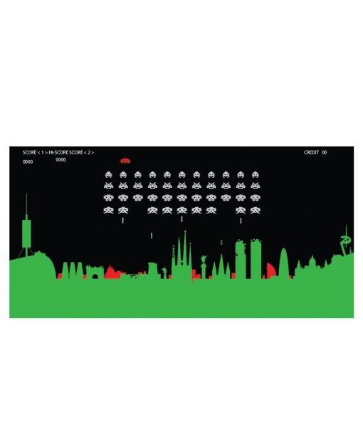 Barcelona Space Invaders detalle