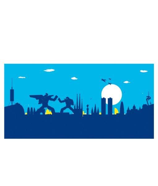 Barcelona Skyline Robots