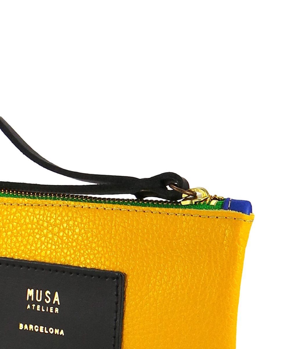 bolso musa amarillo detalle