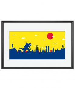 Barcelona Godzilla Poster