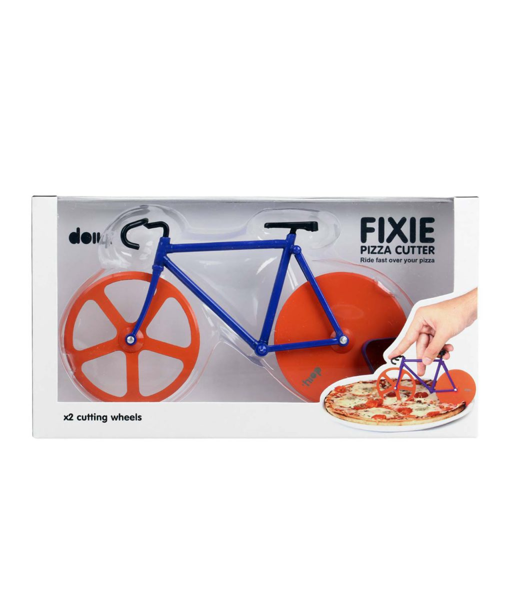bicicleta cortador pizza caja