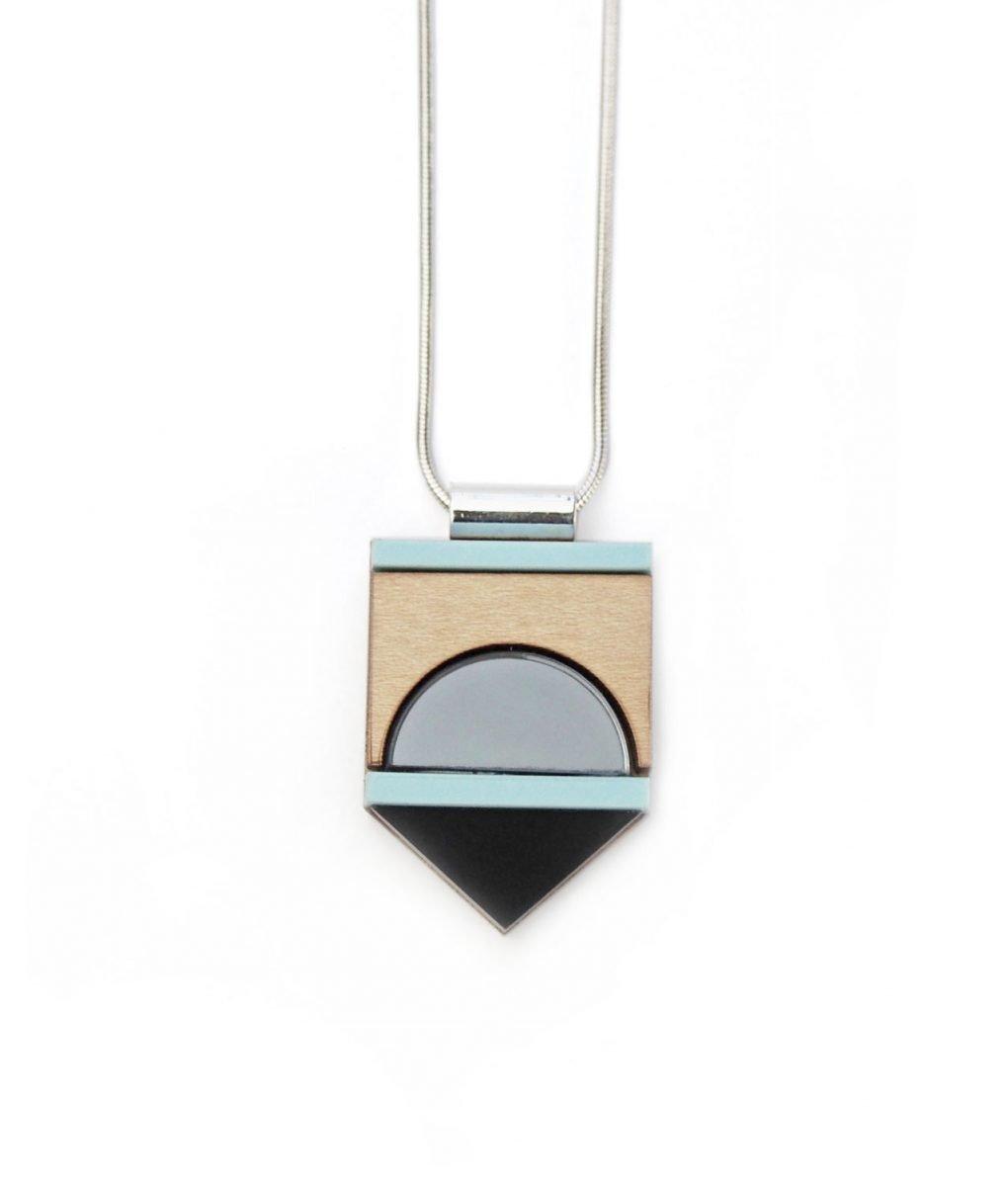 blue form necklace