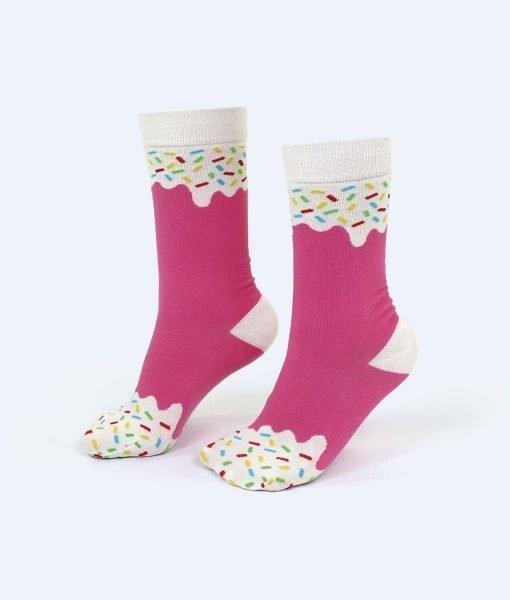 calcetines helado fresa