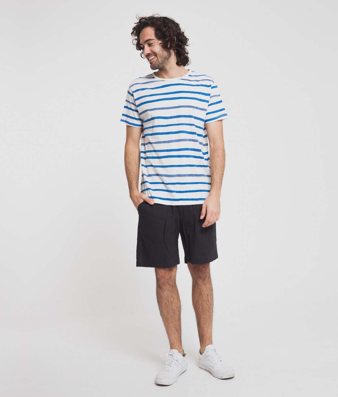 Camiseta aquarela Blue Stripes