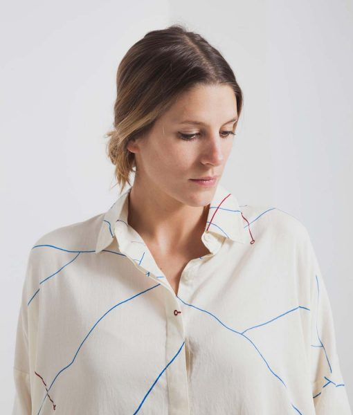 Vestido Abstract Lines