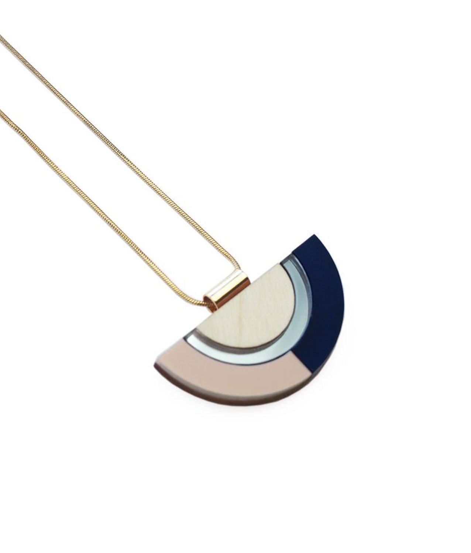 Collar Outline Azul