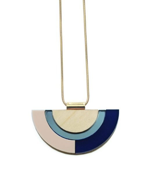 Collar Outline Azul
