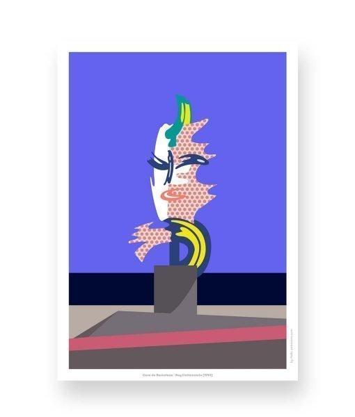 barcelona lichtenstein ilustracion