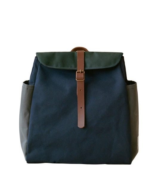 mochila azul verde