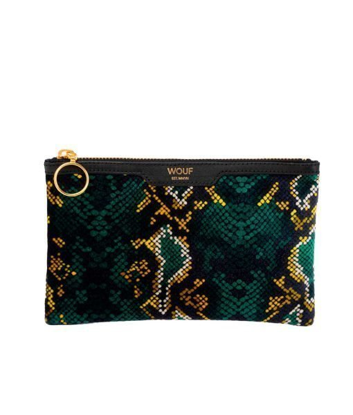 SNAKESKIN POCKET CLUTCH