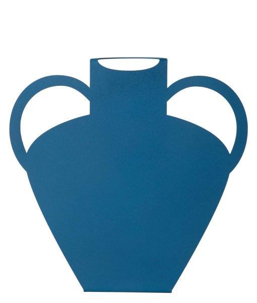 BLUE metal vase