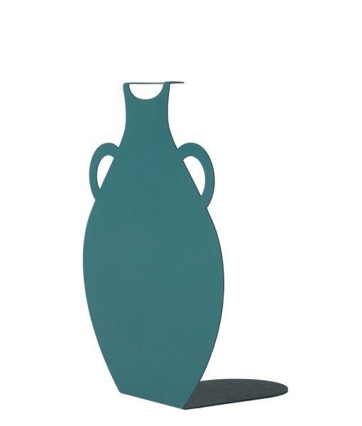 GREEN metal vase