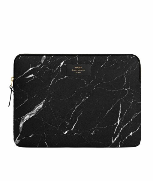 funda marmol negro macbook wouf