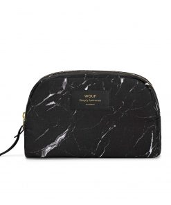 BLACK MARBLE BEAUTY BAG