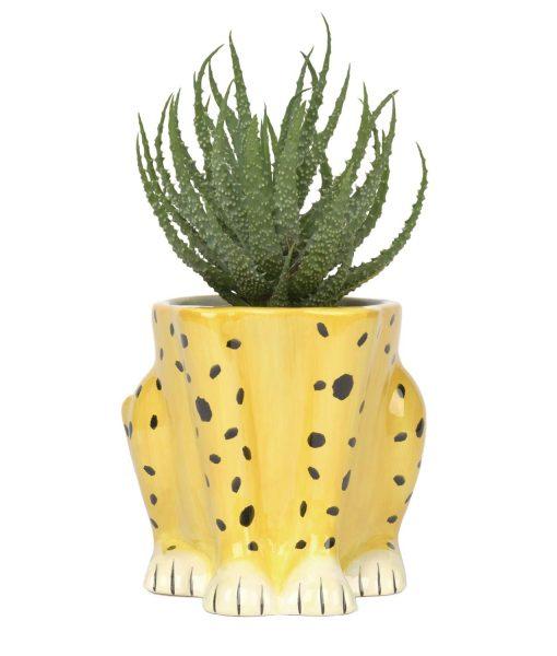 cheetah planter pot