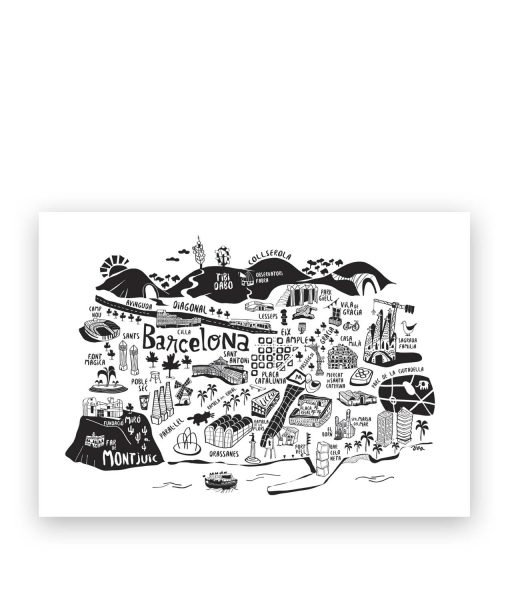 barcelona map illustration
