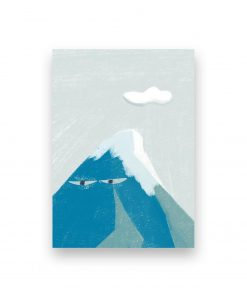 grumpy mountains illustration