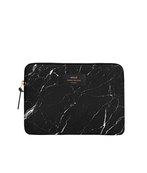 funda ipad marmol negro