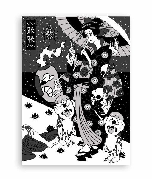 NUEVA NORMALIDAD ILUSTRACION JAPON RKPK